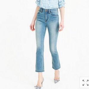 J.Crew Billie Demi Boot Crop High Rise Ankle Jeans
